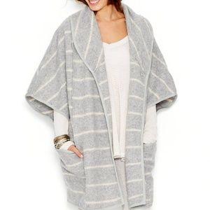 Free People Poncho Style Blanket Coat XS Oversize